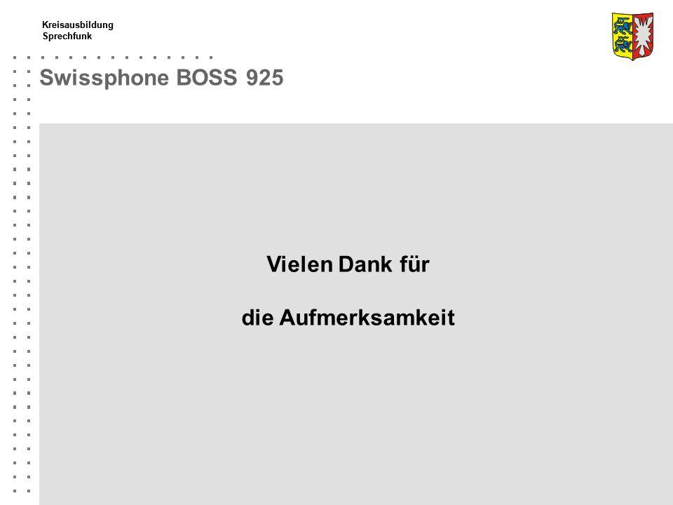 Swissphone BOSS 925 Vielen Dank für die Aufmerksamkeit