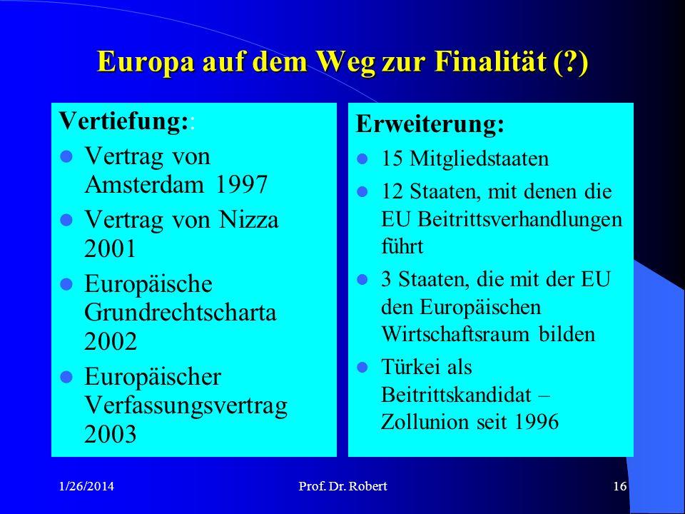Europa auf dem Weg zur Finalität ( )