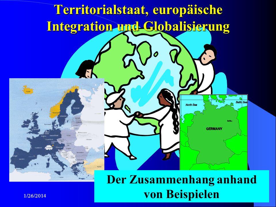 Territorialstaat, europäische Integration und Globalisierung