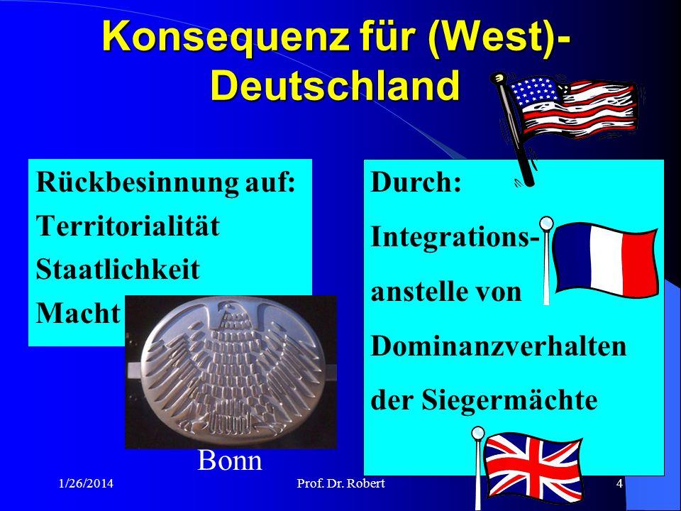 Konsequenz für (West)-Deutschland
