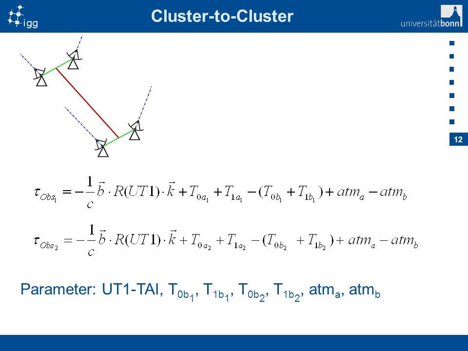 Cluster-to-Cluster Parameter: UT1-TAI, T0b1, T1b1, T0b2, T1b2, atma, atmb