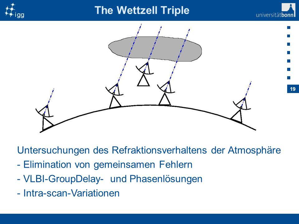 The Wettzell Triple Untersuchungen des Refraktionsverhaltens der Atmosphäre. Elimination von gemeinsamen Fehlern.