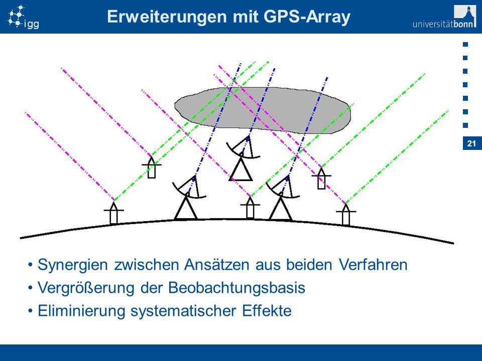 Erweiterungen mit GPS-Array
