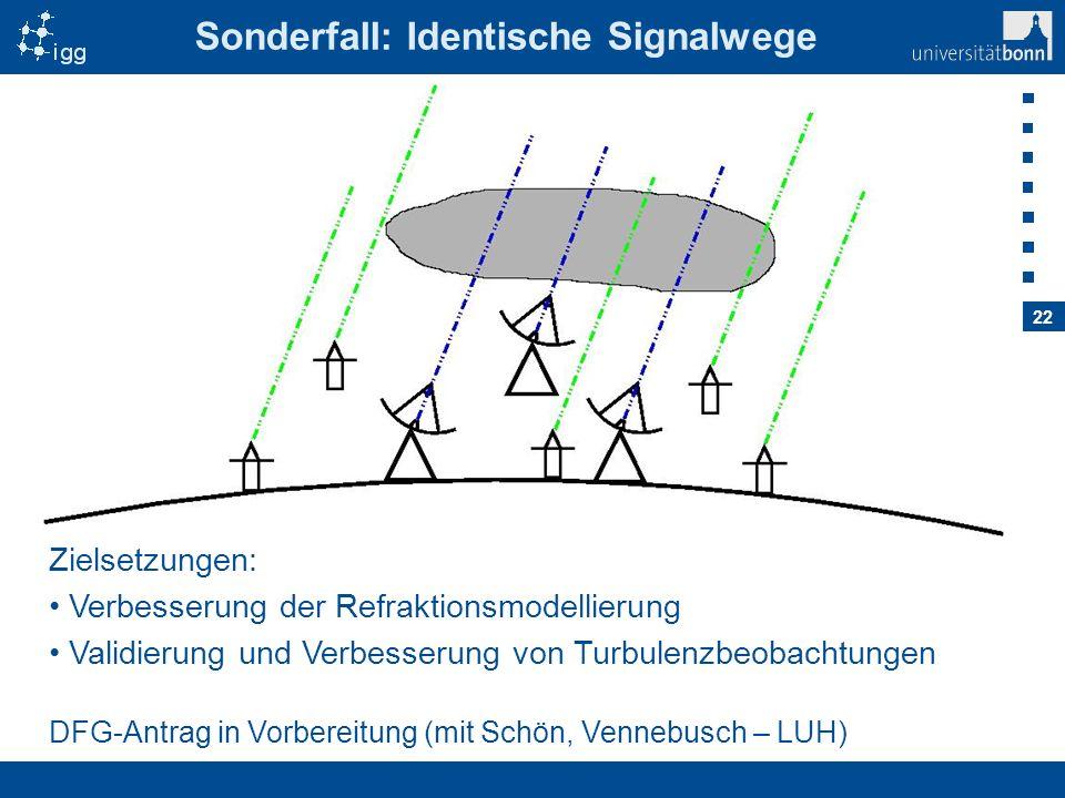 Sonderfall: Identische Signalwege