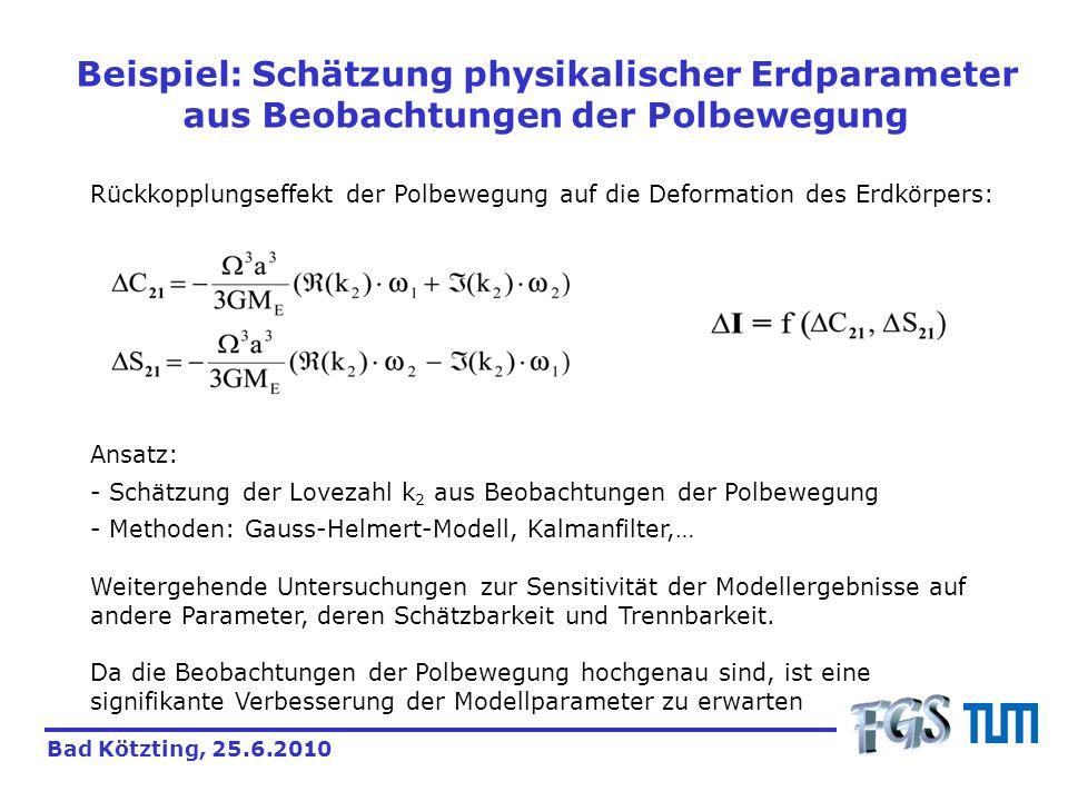 Beispiel: Schätzung physikalischer Erdparameter