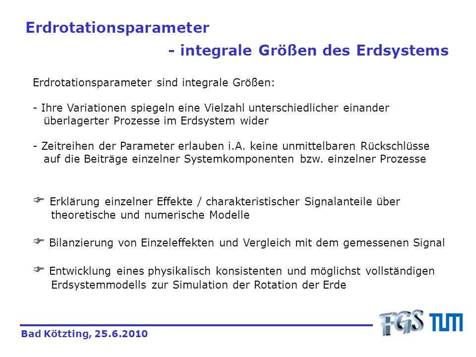 Erdrotationsparameter - integrale Größen des Erdsystems