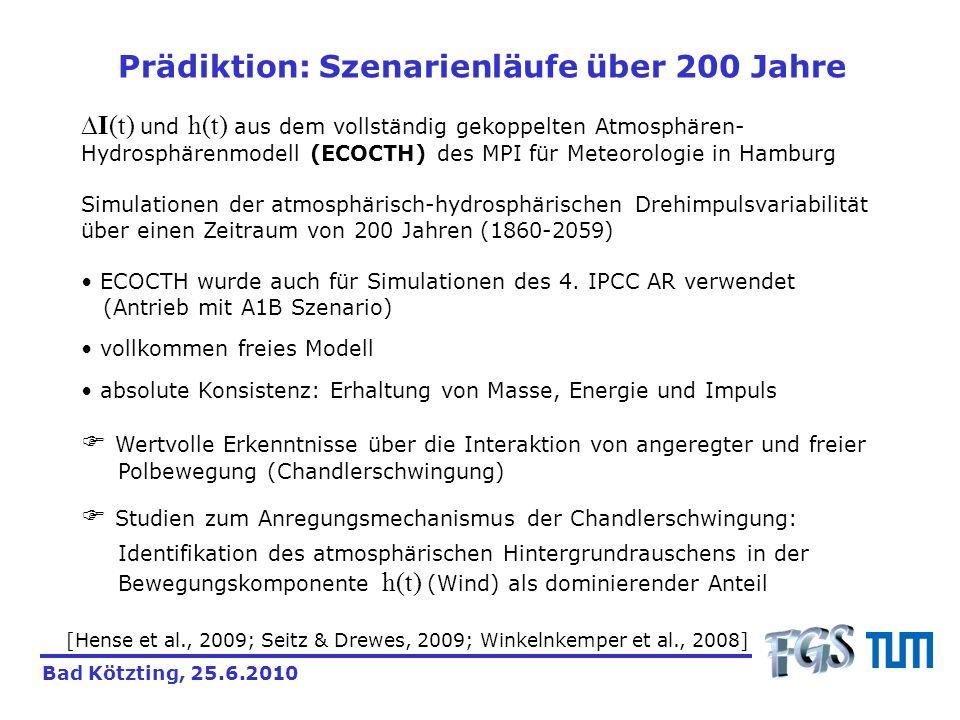 Prädiktion: Szenarienläufe über 200 Jahre