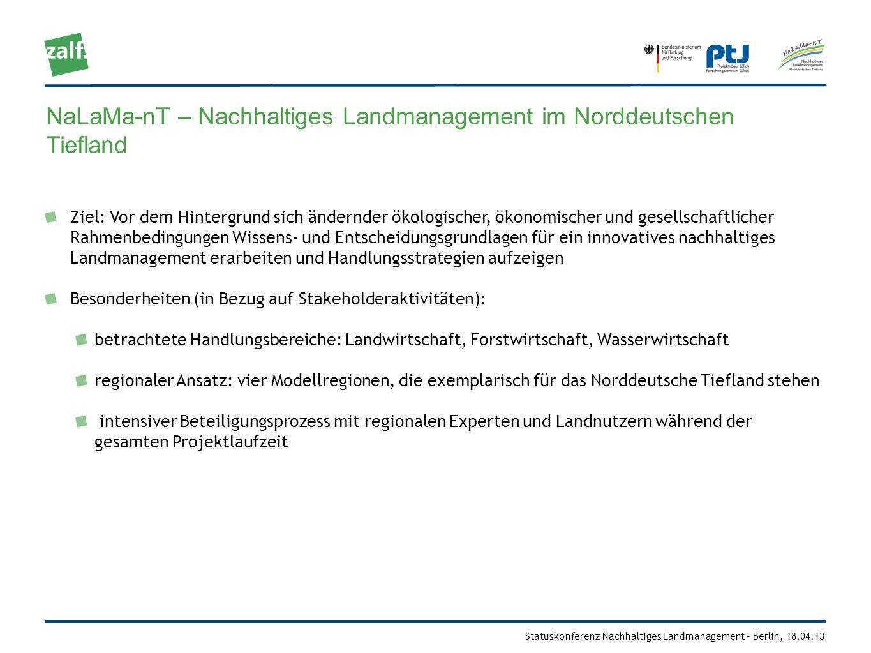NaLaMa-nT – Nachhaltiges Landmanagement im Norddeutschen Tiefland