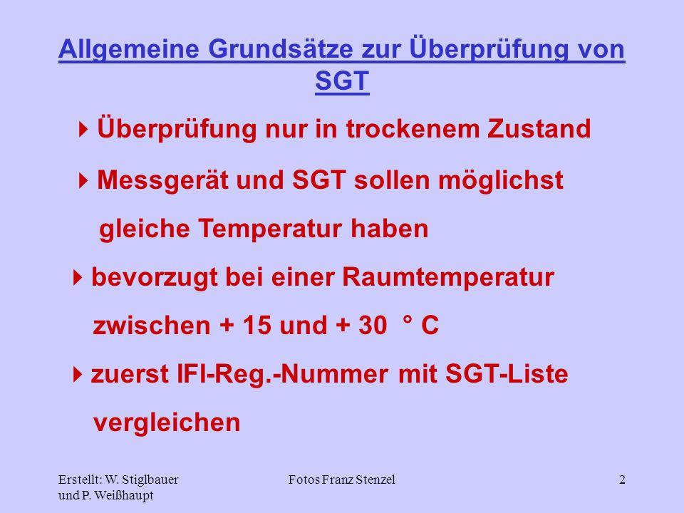 Allgemeine Grundsätze zur Überprüfung von SGT