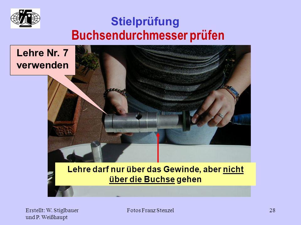 Buchsendurchmesser prüfen