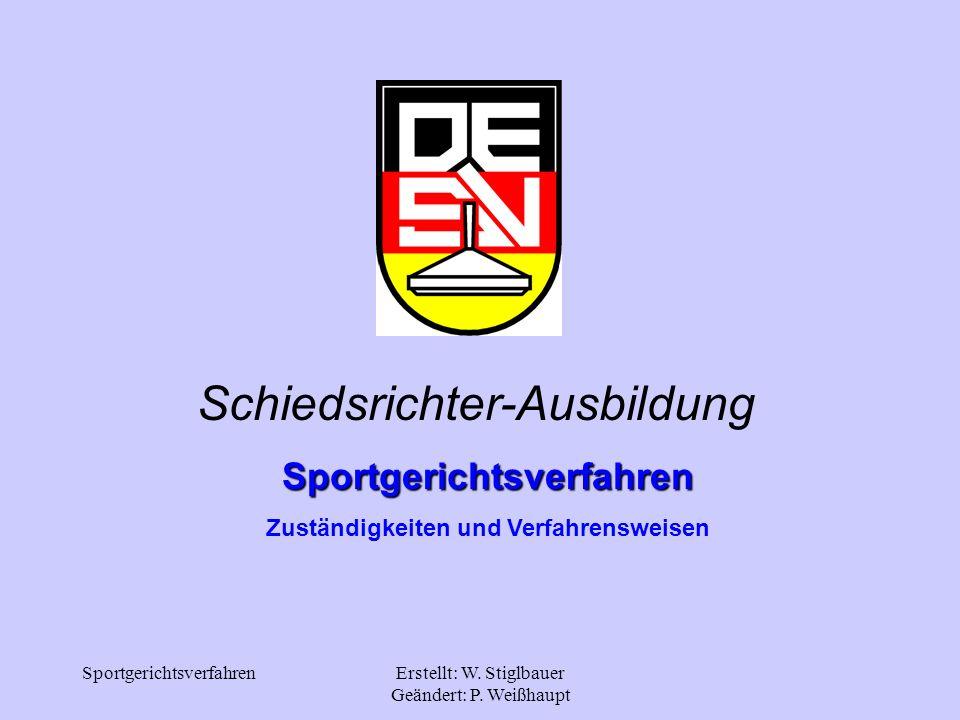 Sportgerichtsverfahren Zuständigkeiten und Verfahrensweisen