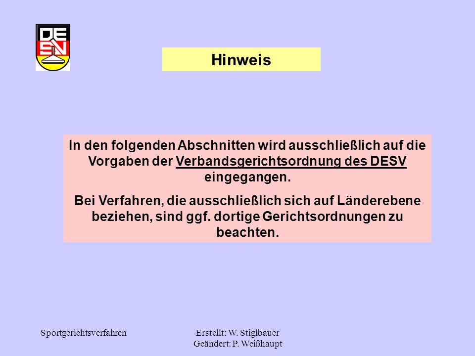 Erstellt: W. Stiglbauer Geändert: P. Weißhaupt