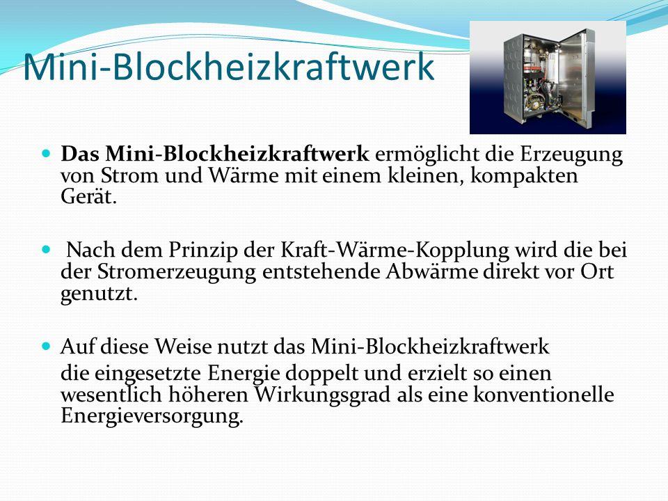 Mini-Blockheizkraftwerk