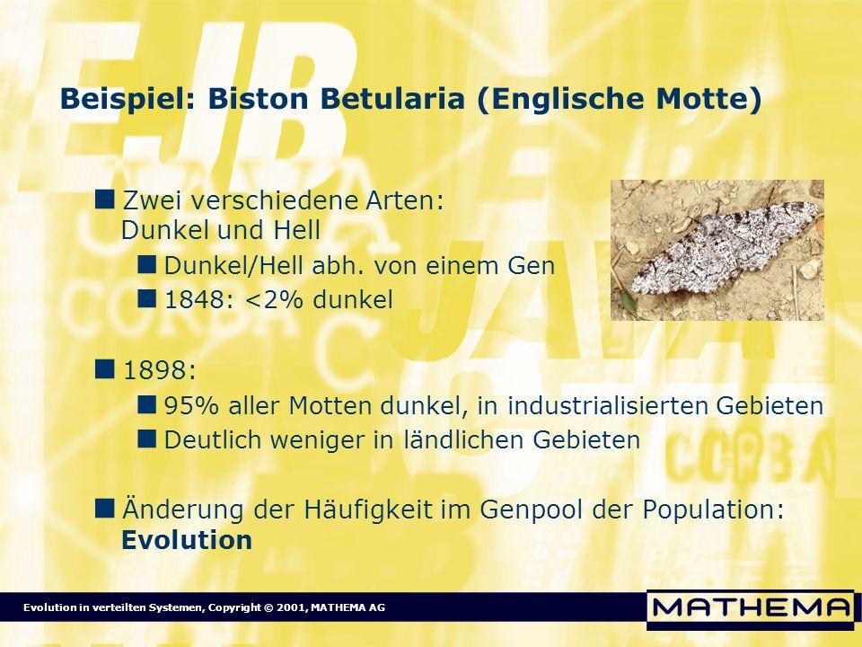 Beispiel: Biston Betularia (Englische Motte)