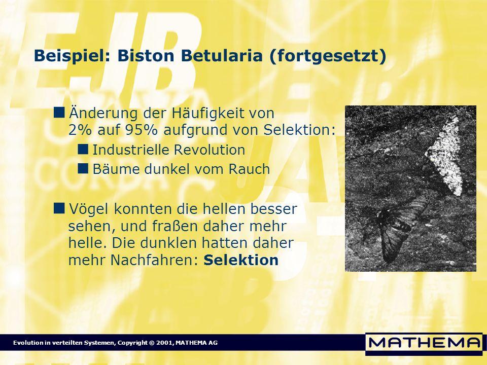 Beispiel: Biston Betularia (fortgesetzt)