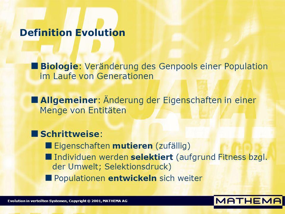 Definition Evolution Biologie: Veränderung des Genpools einer Population im Laufe von Generationen.