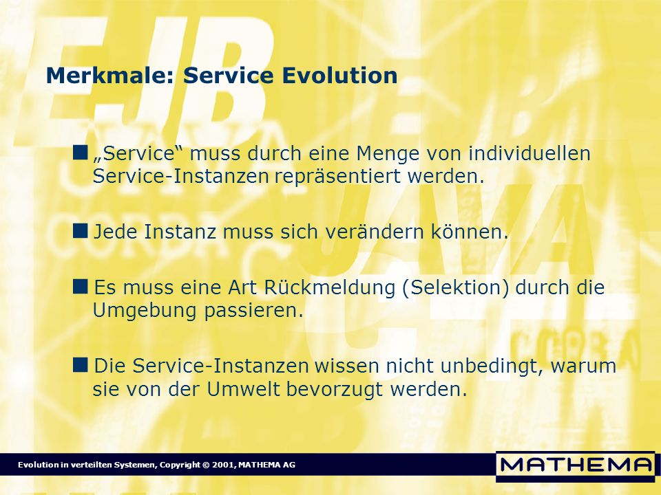 Merkmale: Service Evolution