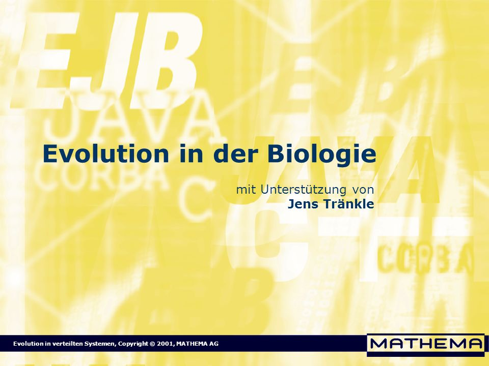 Evolution in der Biologie