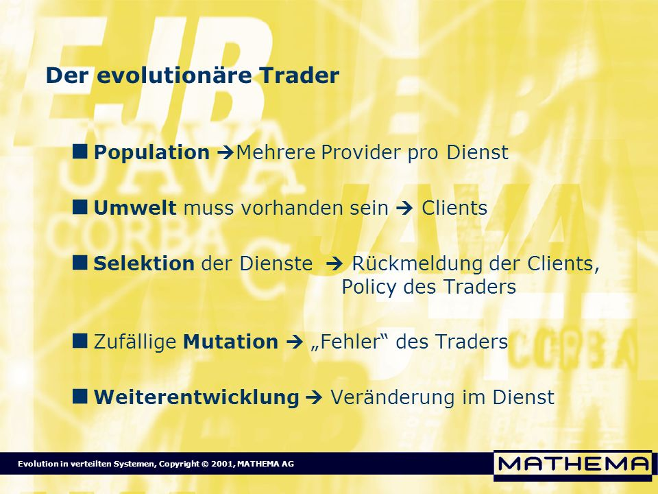 Der evolutionäre Trader