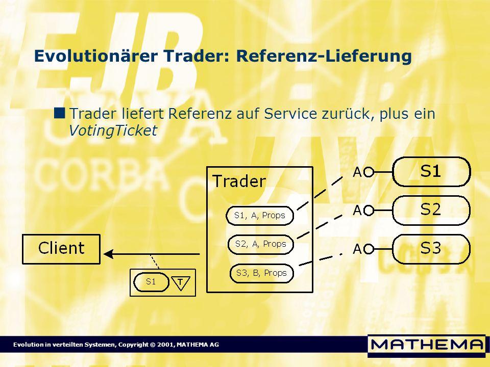 Evolutionärer Trader: Referenz-Lieferung