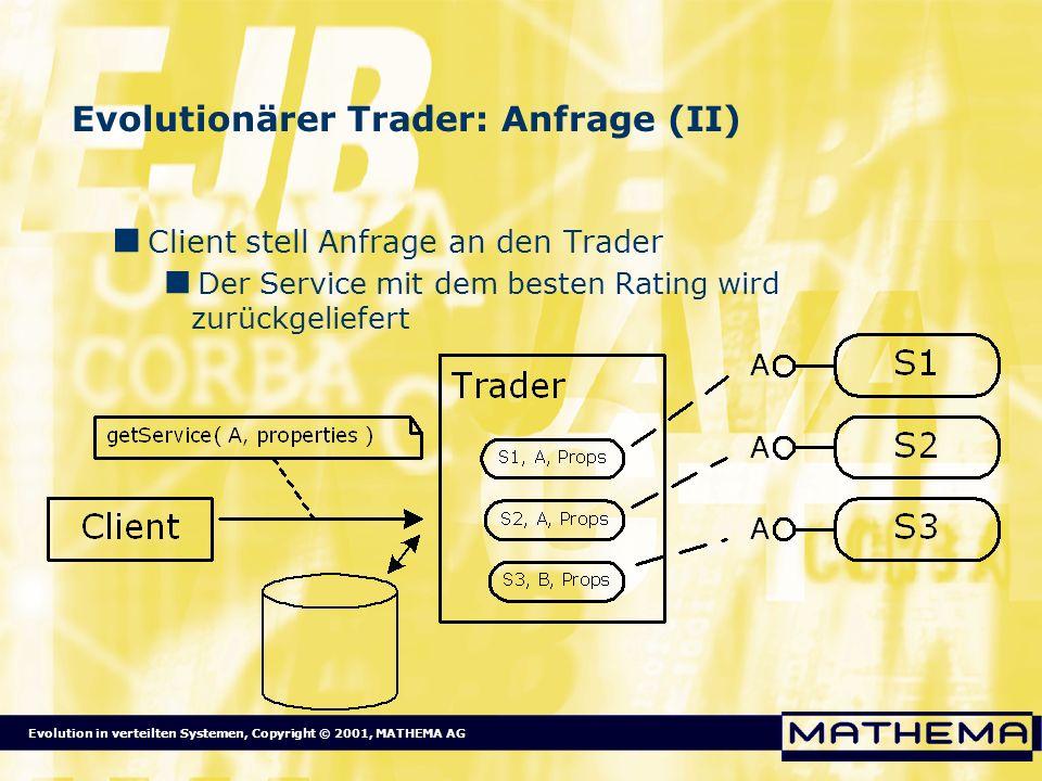Evolutionärer Trader: Anfrage (II)