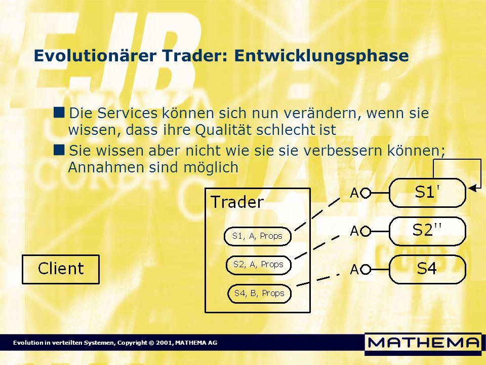 Evolutionärer Trader: Entwicklungsphase