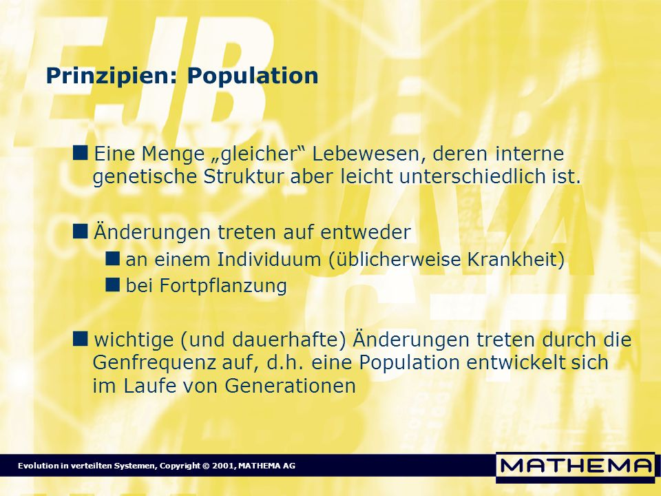 Prinzipien: Population
