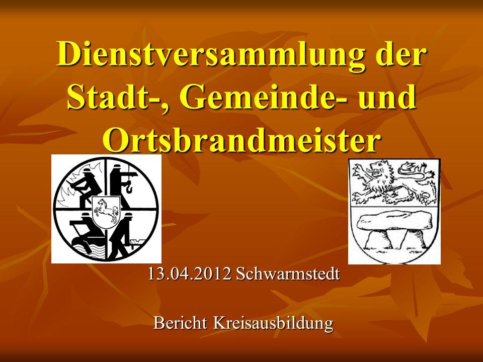 Dienstversammlung der Stadt-, Gemeinde- und Ortsbrandmeister