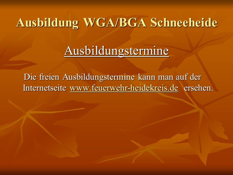 Ausbildung WGA/BGA Schneeheide