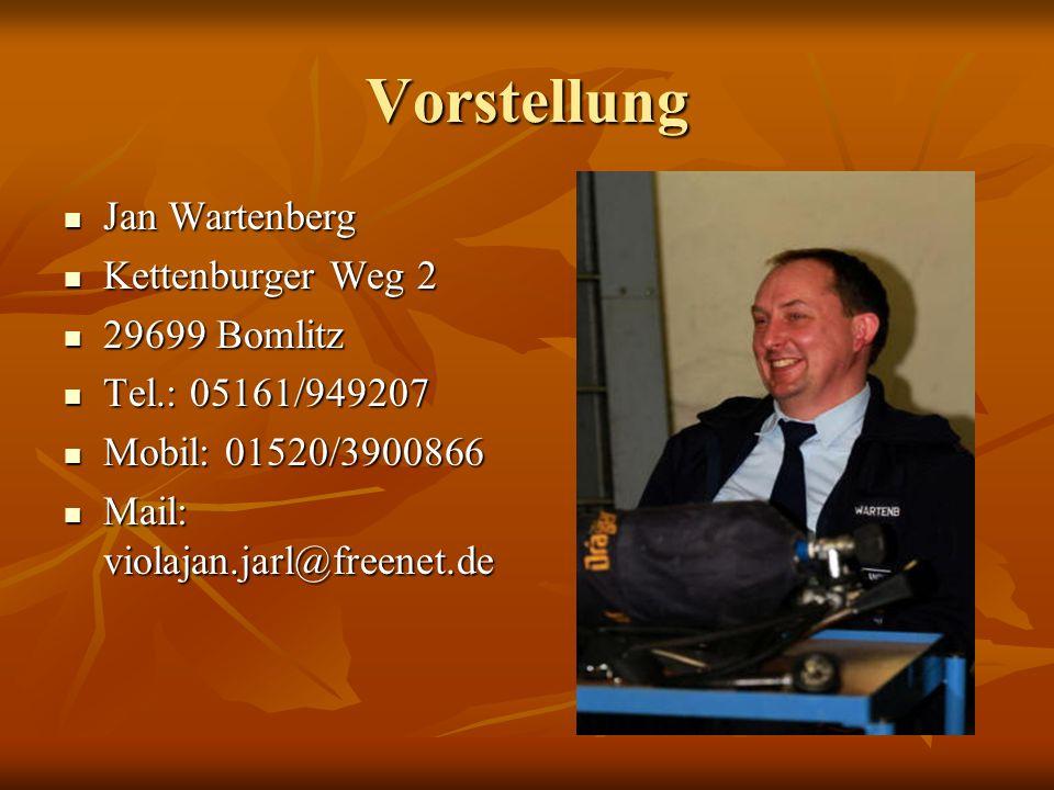 Vorstellung Jan Wartenberg Kettenburger Weg 2 29699 Bomlitz