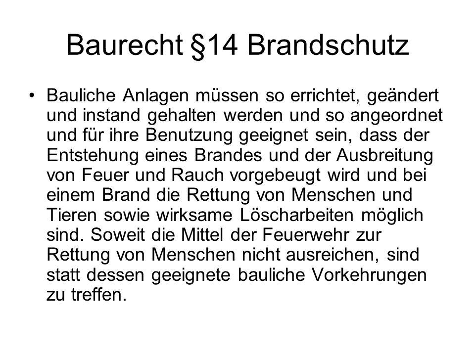 Baurecht §14 Brandschutz