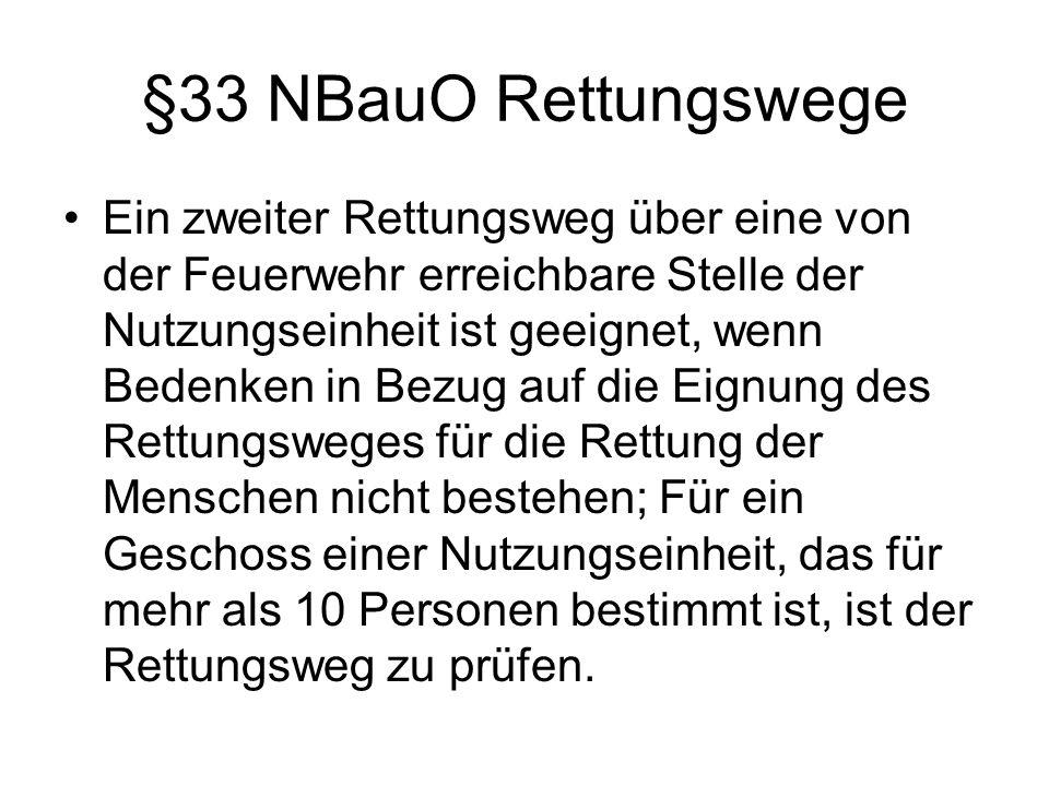 §33 NBauO Rettungswege