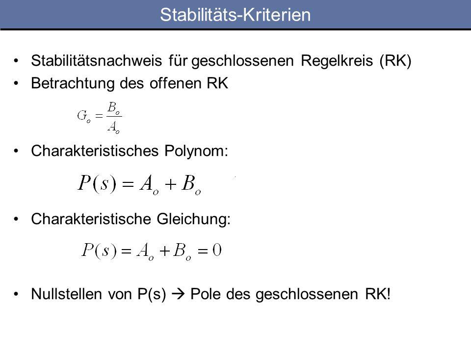 Stabilitäts-Kriterien