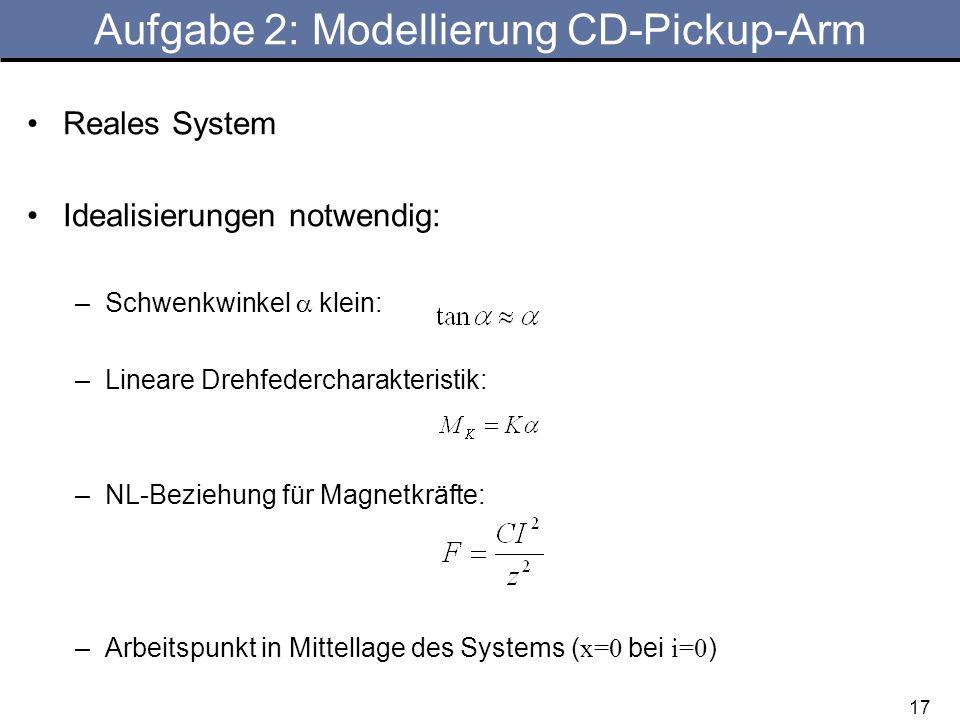 Aufgabe 2: Modellierung CD-Pickup-Arm