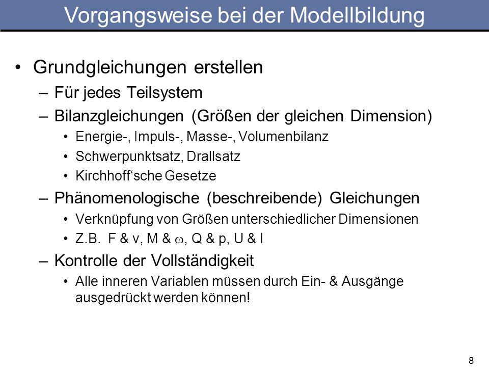 Vorgangsweise bei der Modellbildung