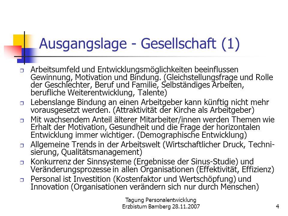 Ausgangslage - Gesellschaft (1)