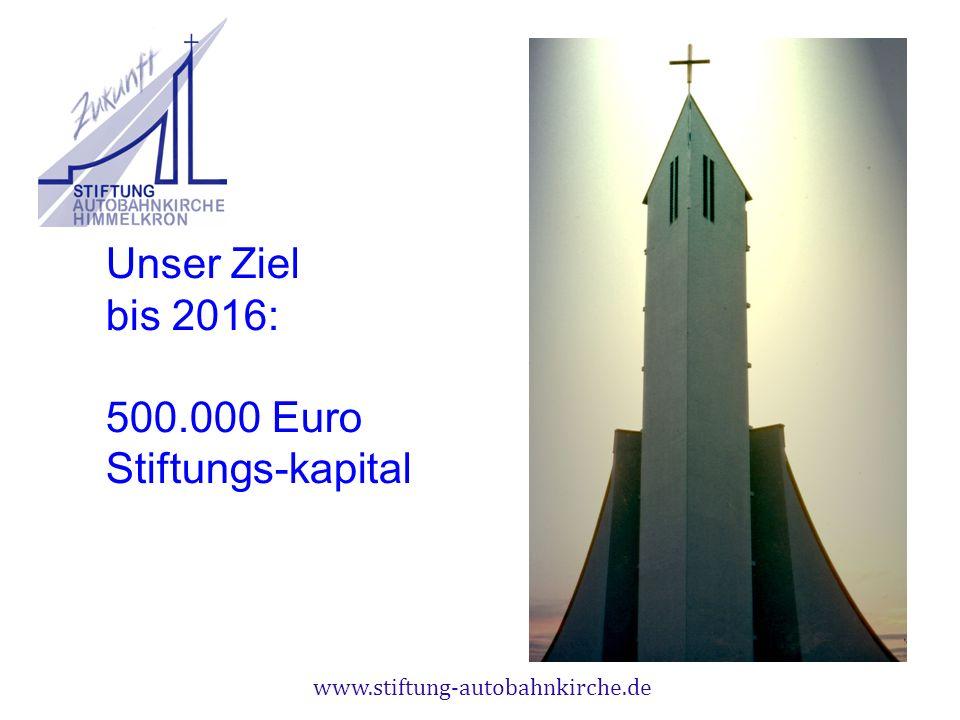 Unser Ziel bis 2016: 500.000 Euro Stiftungs-kapital