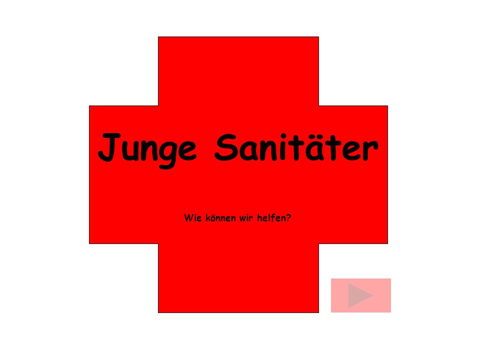 Junge Sanitäter Wie können wir helfen