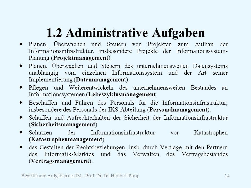 1.2 Administrative Aufgaben