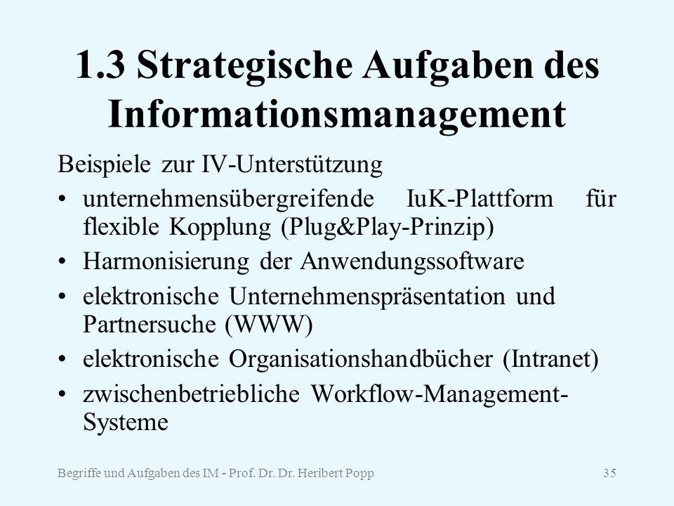1.3 Strategische Aufgaben des Informationsmanagement