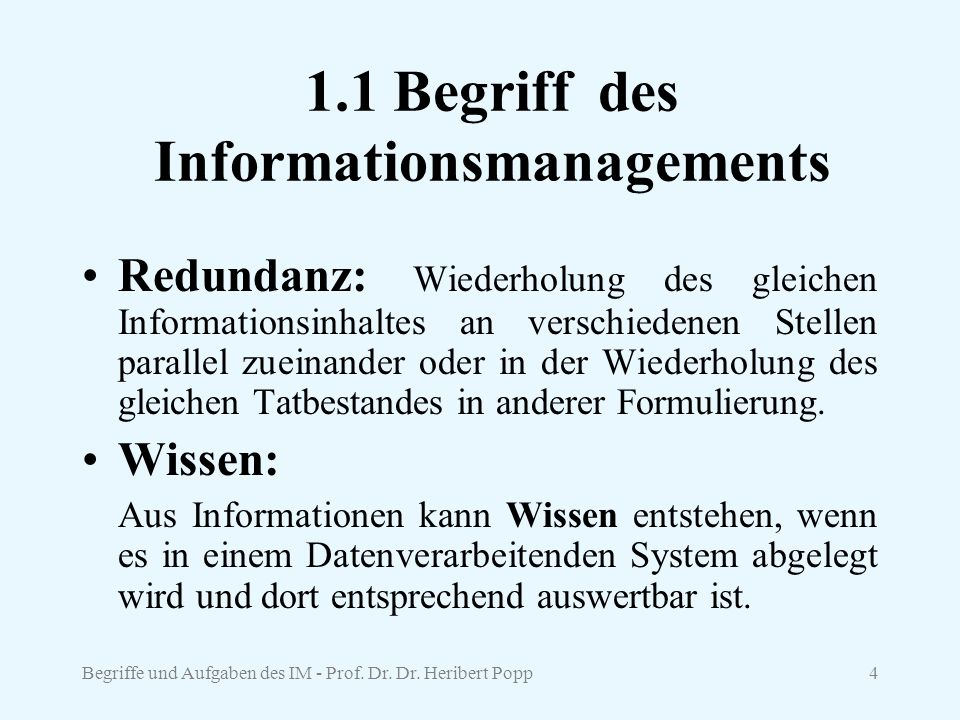 1.1 Begriff des Informationsmanagements