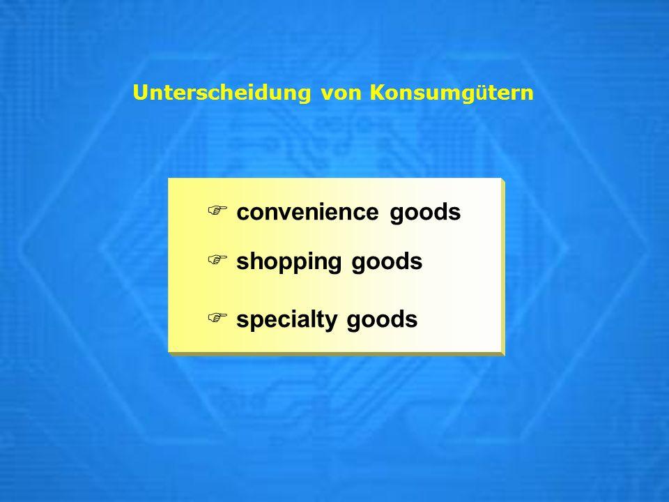 Unterscheidung von Konsumgütern