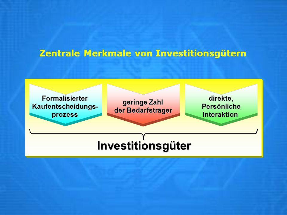 Zentrale Merkmale von Investitionsgütern