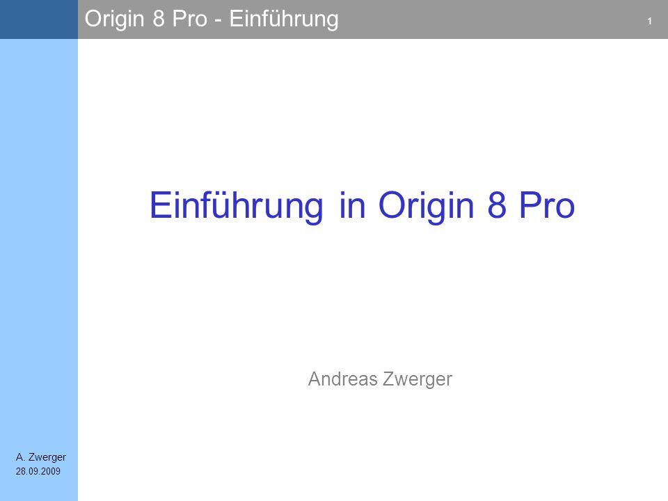 Einführung in Origin 8 Pro