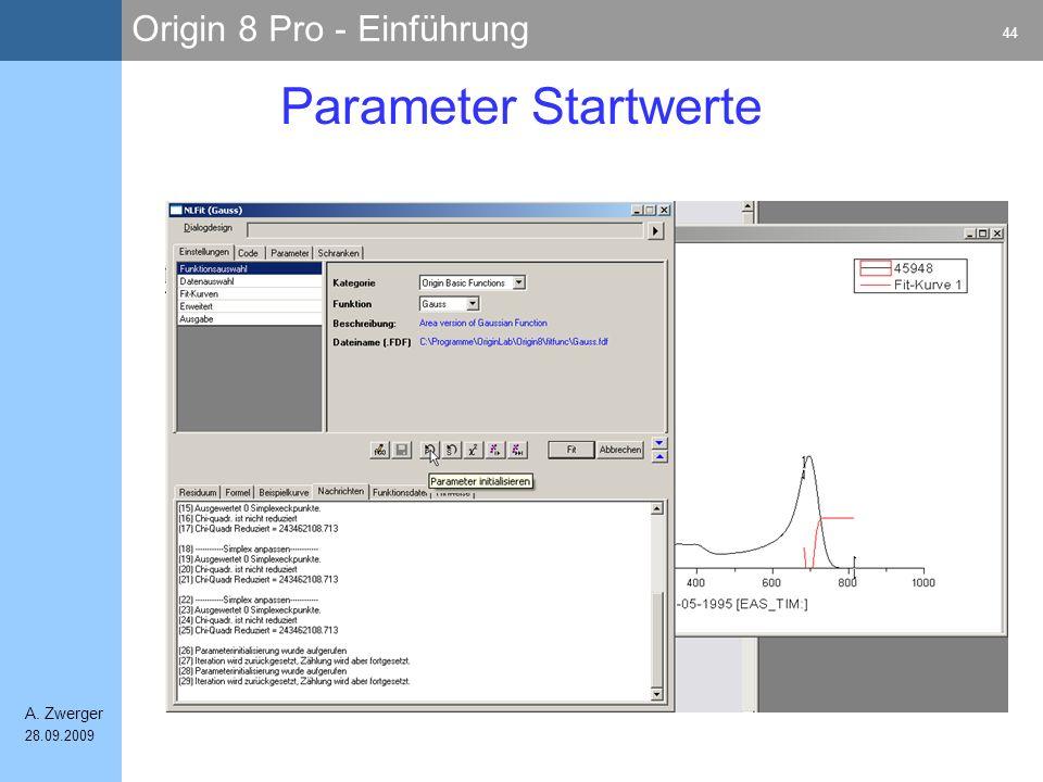 Parameter Startwerte