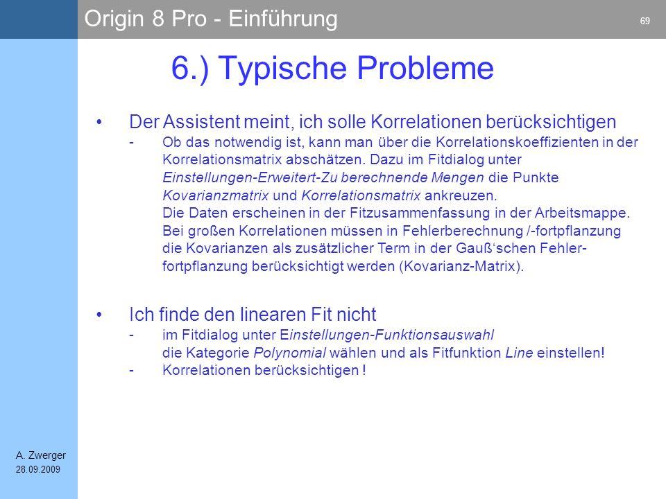 6.) Typische Probleme