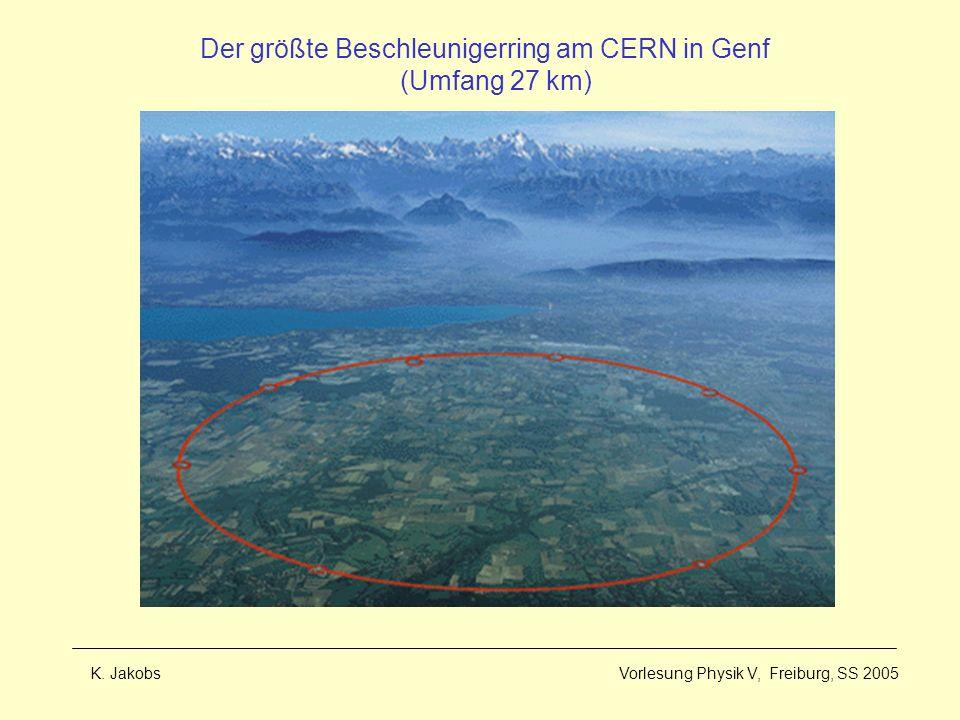 Der größte Beschleunigerring am CERN in Genf