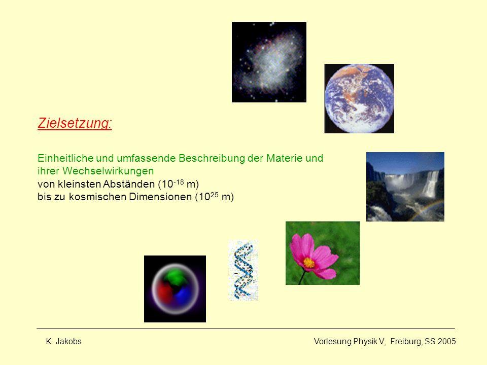 Zielsetzung: Einheitliche und umfassende Beschreibung der Materie und