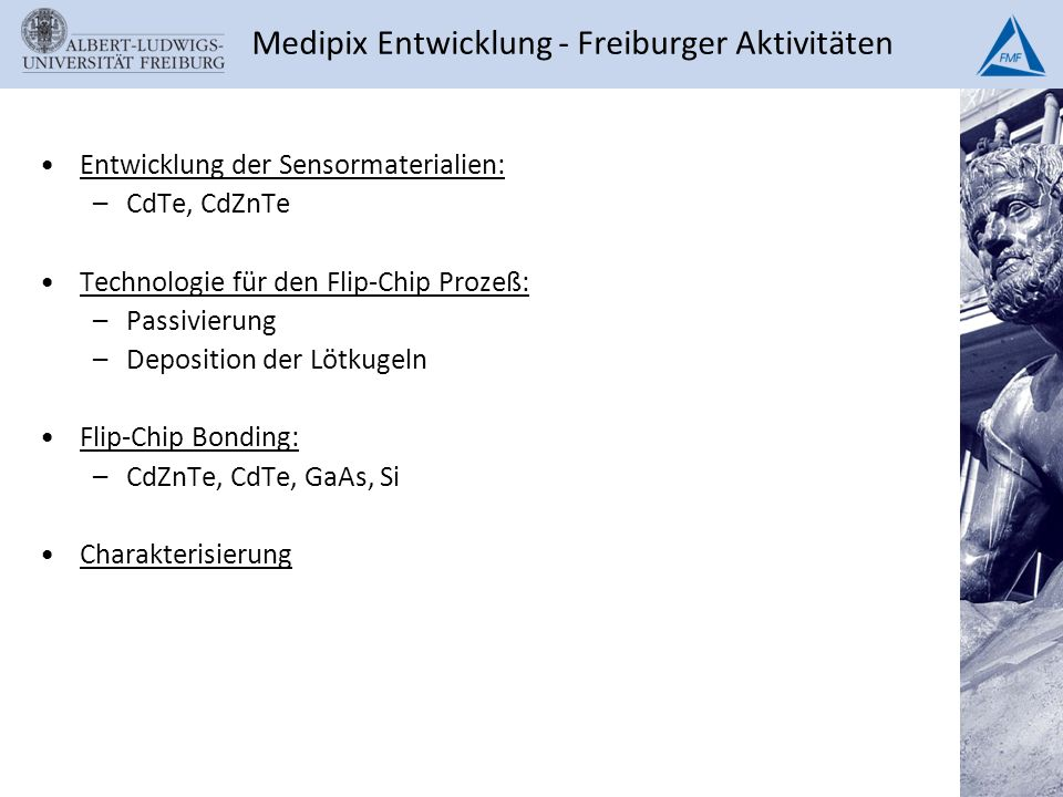 Medipix Entwicklung - Freiburger Aktivitäten