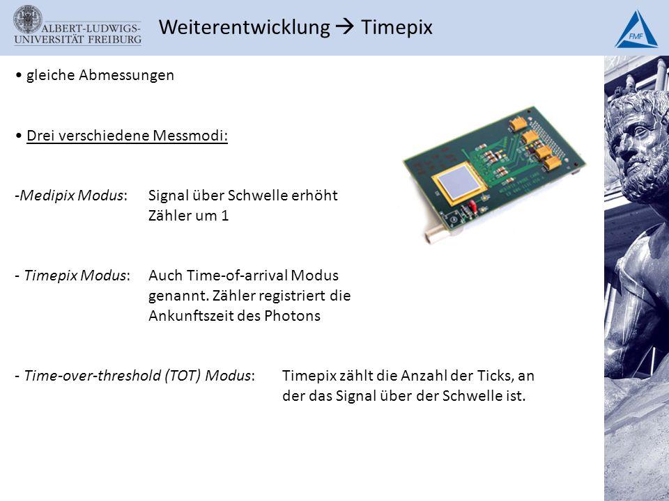 Weiterentwicklung  Timepix